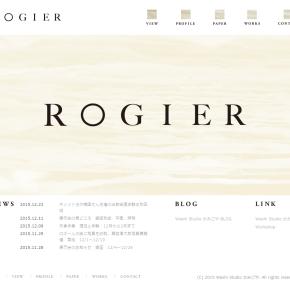 ウェブサイト rogier.jp 開設しました。